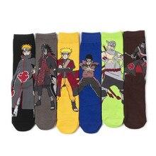 Calf Anime Sock Personality-Socks Knee-High Naruto Uzumaki-Print Cosplay Hip-Hop Adult