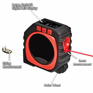 Image 2 - Laser Rangefinder Digital Tape Multifunctional 3 in 1 Measuring Tool Laser Level Laser Range Finder LCD Digital Display