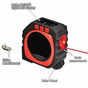 Image 2 - Laser entfernungsmesser Digital Band Multifunktionale 3 in 1 Messung Werkzeug Laser Level Laser Range Finder LCD Digital Display