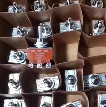 Free Shipping 2pcs/lot Shake head switch s338t s-338t 6-foot self reset rocker switch