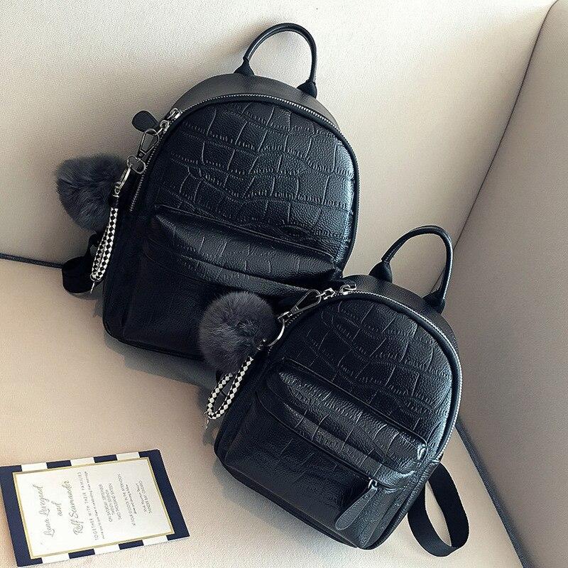 Female White Back Pack Black Backpacks Mini Backpacks Women PU Leather Cute Small Backpack For Teen Girls Fashion Bagpack Woman