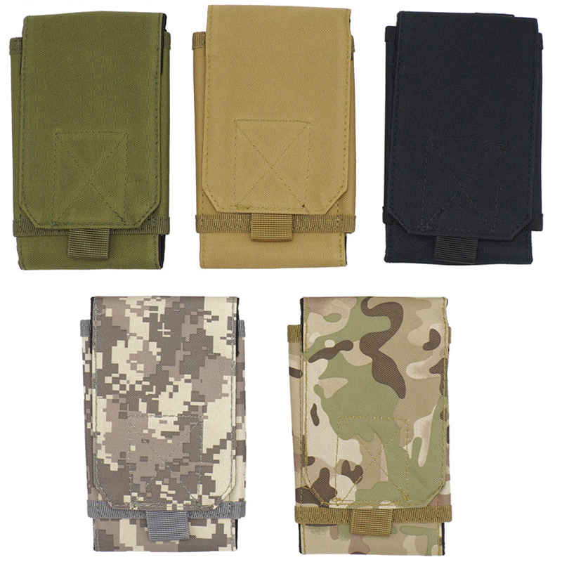 Military Tactical Camo Belt Pouch Bag Pack Phone Bags Molle Pouch Belt Camp Pocket Waist Fanny Bag Phone Case Pocket For Hunting