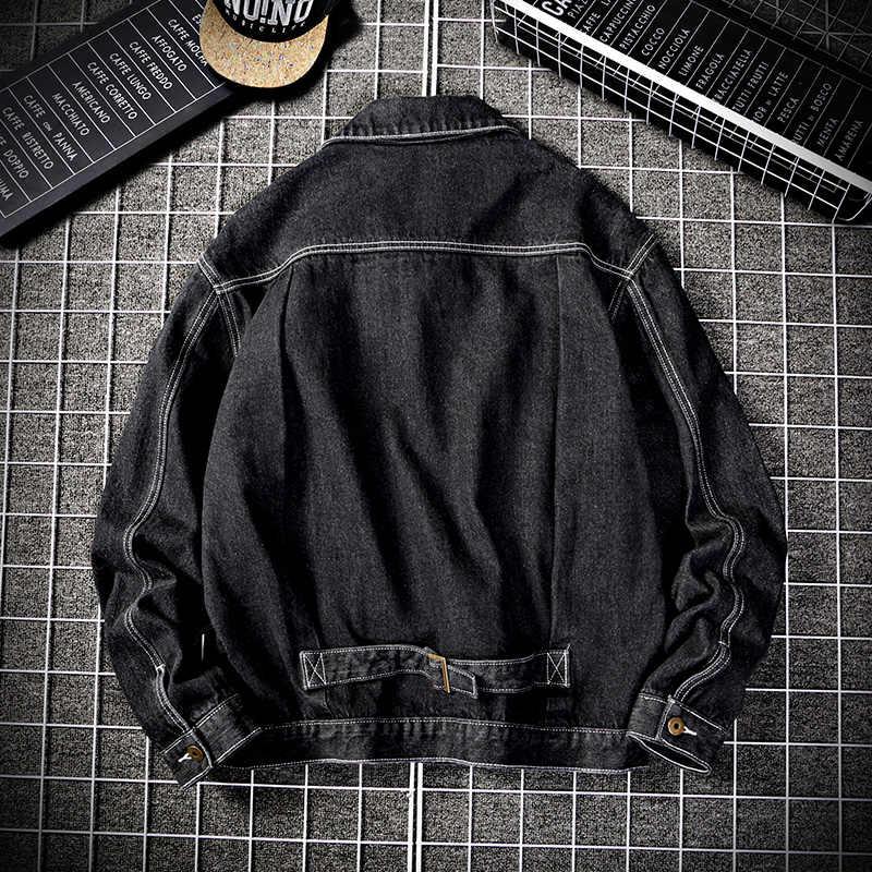 Новинка 2020, уличная джинсовая куртка для мальчиков, Мужская классическая Свободная Повседневная однобортная джинсовая куртка, джинсовая куртка для мужчин