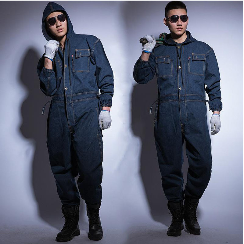 Work Clothing Man Uniform Rompers Coveralls Pant Protective Cotton Cloth for Worker Repairman Machine Auto Repair Welding DYF055