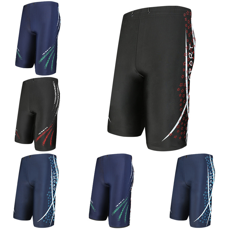 Swimming Trunks Adult Shorts Boxer Quick-Dry Plus-sized Men's Beach Swimming Trunks Manufacturers Wholesale YK092002