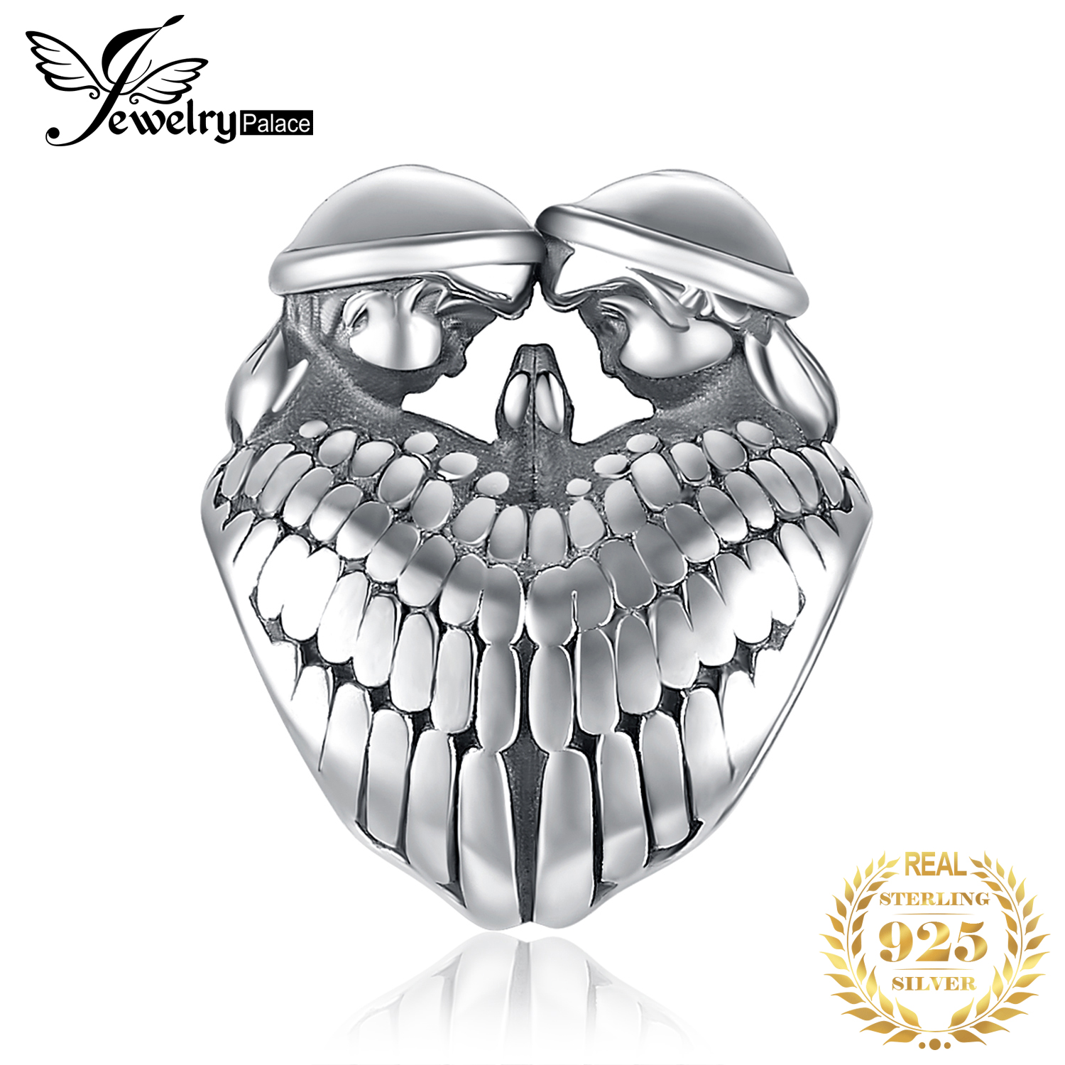 JewelryPalace Guardian Angel Wings 925 Sterling Silver Beads Charms Silver 925 Original For Bracelet Silver 925 Original Jewelry