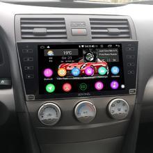 "9 ""Android10รถสเตอริโอวิทยุสำหรับToyota Camry 2007 2008 2009 2010 2011 DSP GPS SPDIF Carplay 5GWiFiซับวูฟเฟอร์Optical Output"