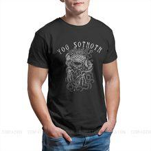 La yog-sothoth informal-Camiseta de algodón puro para hombre, ropa de calle Cthulhu Mythos Lovecraft Horror de los grandes ancianos, camiseta de moda