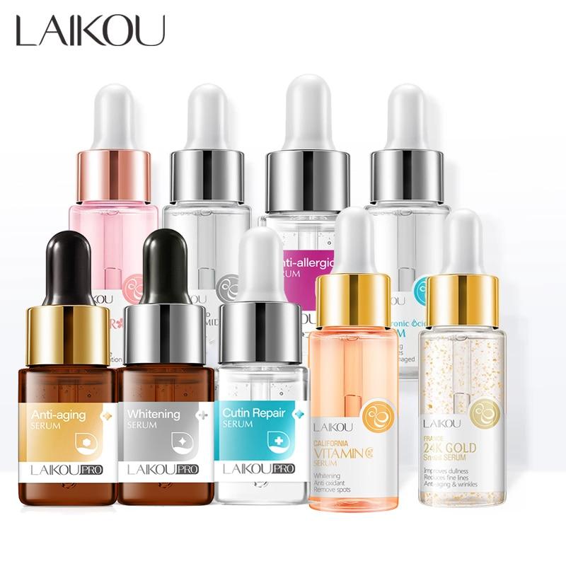 LAIKOU Serum Japan Sakura Essence Anti-Aging Hyaluronic Acid Pure 24K Gold Whitening Vitamin C Face Serum Face Skin Care Korea