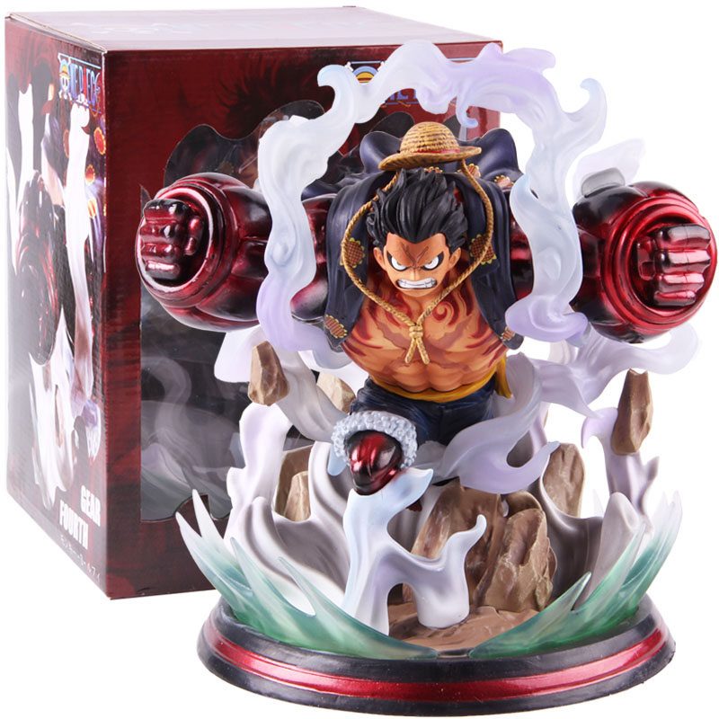 One Piece Monkey D Luffy Gear Fourth Bound Man GK Statue Figures PVC Action Figure Collectible Model Toy