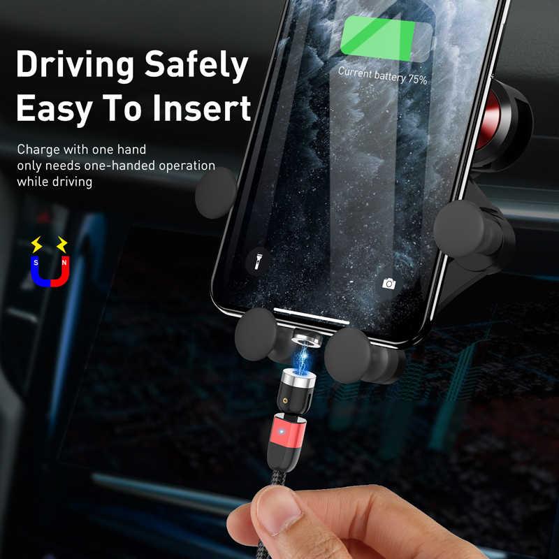 Lovebay 2M Magnetische USB Kabel Micro usb Typ C Ladegerät Handy Kabel 360 ° + 180 ° rotation Schnelle Lade Für iPhone 11