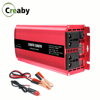 цена на Inverter DC 12V 24V To AC 220V 1200W 1500W 2000W Household Power Converter With 5V USB Voltage Transformer Modified Sine Wave