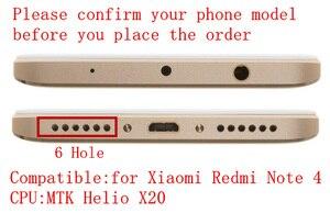 Image 2 - Para xiaomi redmi nota 4 mediatek display lcd quadro completo painel da tela de toque redmi note4 nota 4 mtk lcd digitador peças reposição