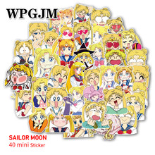 40pcs Creative Cute Self-made Pretty Guardian Sailor Moon Scrapbooking Stickers /Decorative Sticker Decoration /paper Stickers pretty guardian sailor moon crystal original bandai tamashii nations figuarts zero exclusive collection figure sailor pluto page 4 page 9