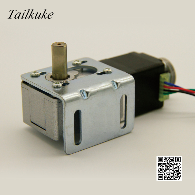 32-28 Worm Geared Stepper Motor 31mm Self-locking Right Angle