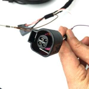 Image 5 - רכב לוגו Flip RVC מבט אחורי מצלמה היפוך מסלול מסלול עמדת קו להתחבר חיווט לרתום עבור פולקסווגן פאסאט B8 CC גולף 7.5