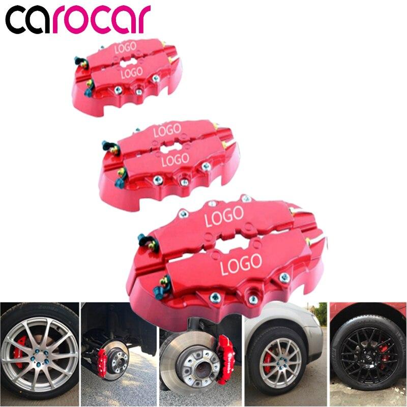 "Truck 3D Front Rear Disc Brake Caliper Covers w// Logo Fit 16/""-17/"" Wheels New Car"