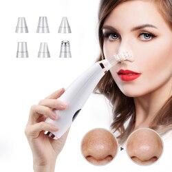 Limpador facial cravo removedor poros profundos acne espinha remoção de sucção a vácuo diamante ferramenta beleza rosto do agregado familiar spa cuidados com a pele