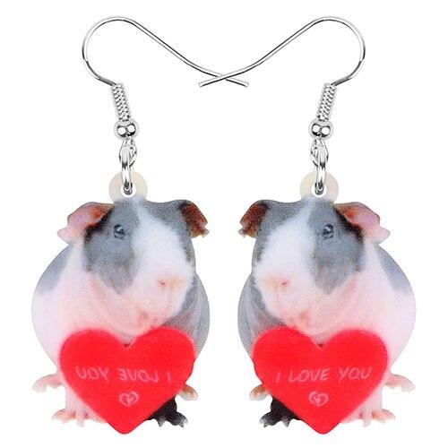 Heart Mouse Earrings