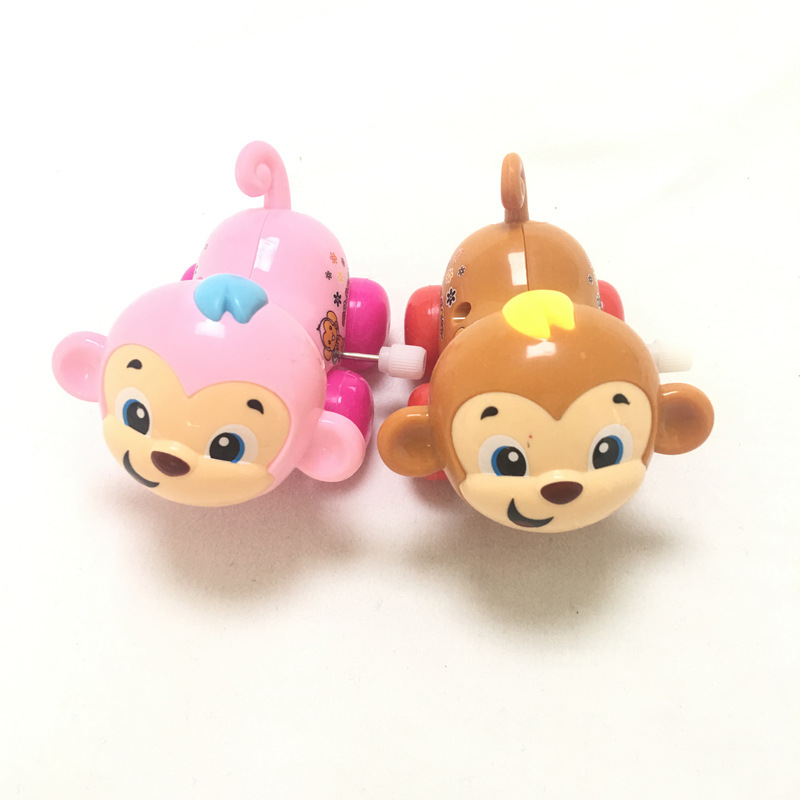 Infants Educational Wind-up Toy Wholesale CHILDREN'S Cartoon Creative Winding Cute Monkey