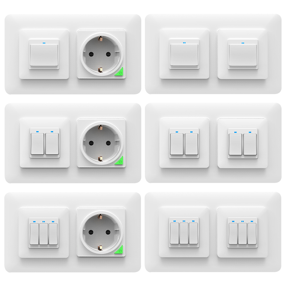 Interruptores y enchufe Wifi inteligente para empotrar