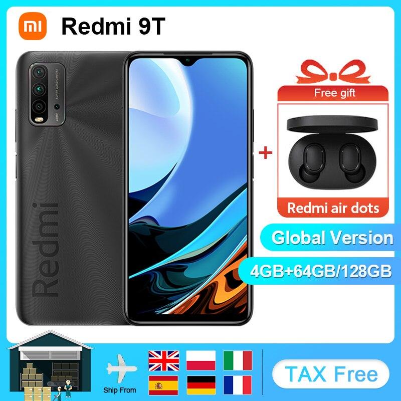 Глобальная версия смартфона Xiaomi Redmi 9T, 4 Гб 64 Гб/6 ГБ 128 ГБ, Snapdragon 662, Аккумулятор 6000 мАч, задняя камера 48 МП, 6,53 дюймов, FHD, мобильный телефон