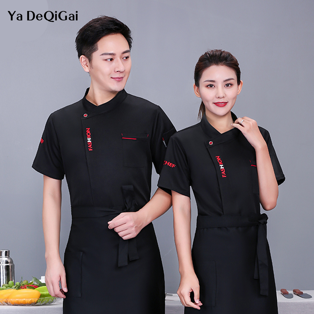 High Quality Chef Restaurant Uniform Sushi Costume Breakfast Shop Hotel Uniform Housewife Hotel Food Service Cooking Chef Shirts