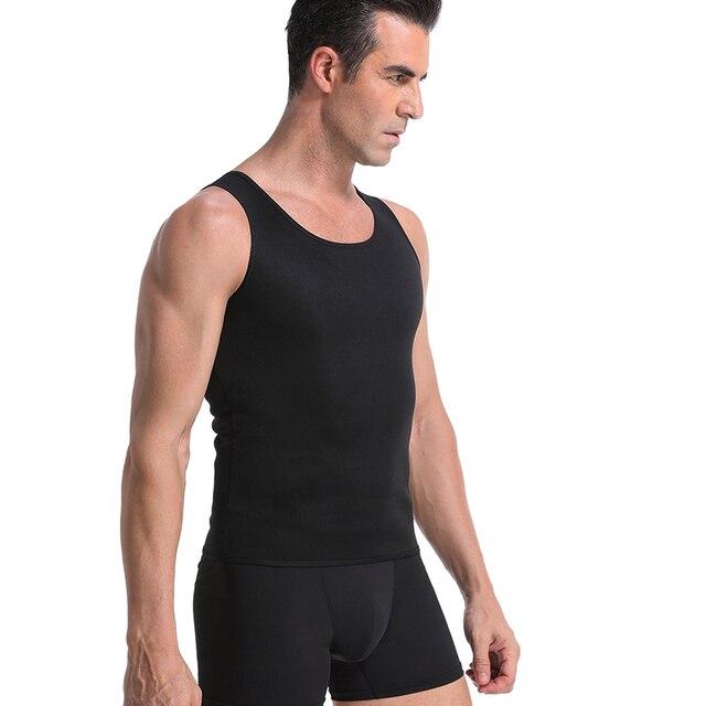 Men Slimming Body Shaper Waist Trainer Belt Belly Slimming Vest Sauna Neoprene Abdomen Fat Burning Shaperwear Waist Sweat Corset 4