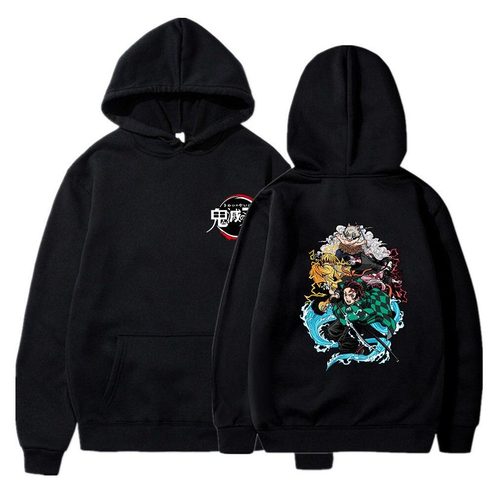 Anime Demon Slayer Hoodie Woman Man Harajuku Jersey White Spring And Autumn Warm Regular Ladies Fashion Clothes 4XL