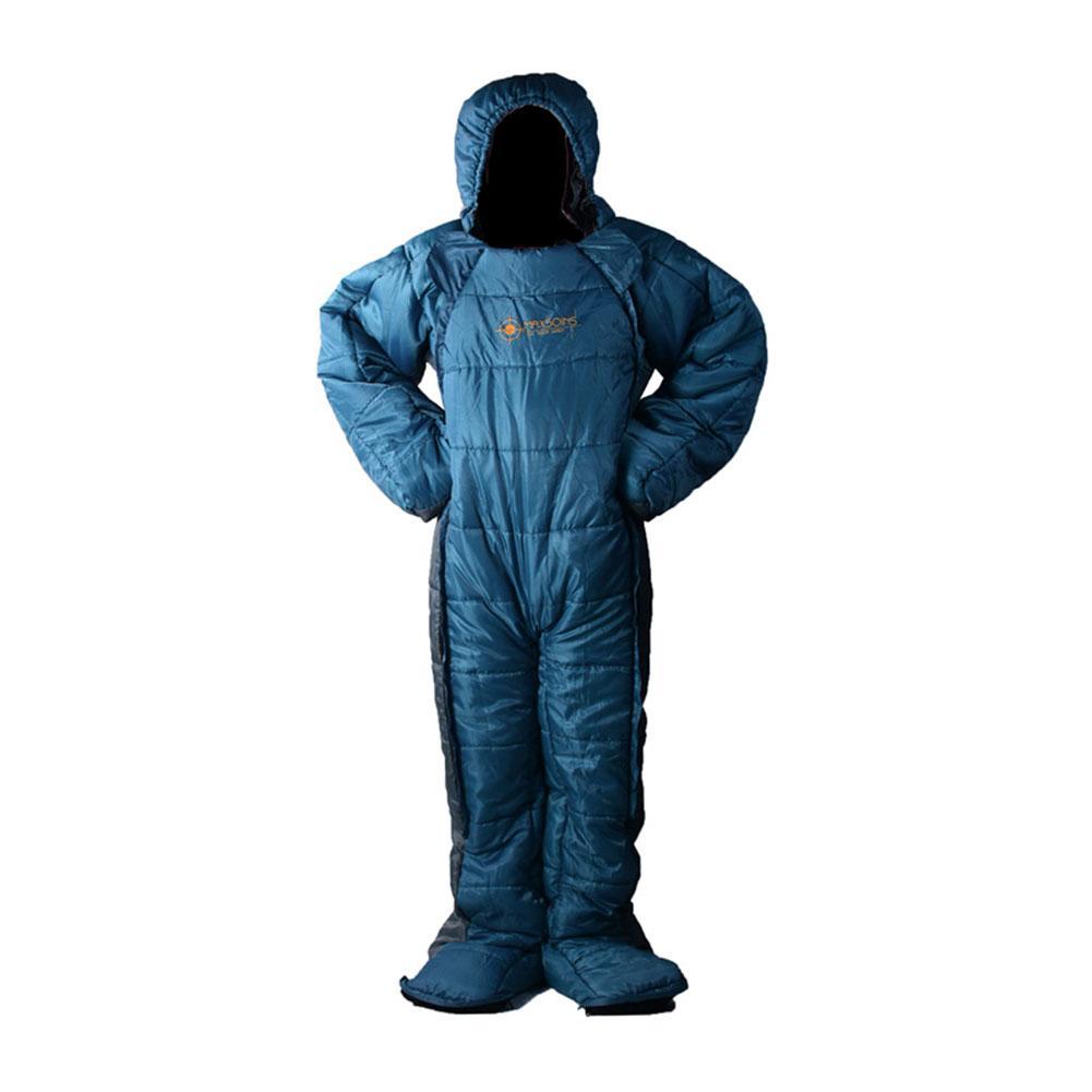 Спальный мешок в форме человека, зимний теплый удобный спальный мешок на молнии, спальный мешок для палаток, походов, походов - 2