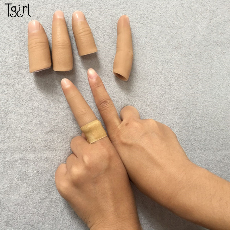 Tgirl One Finger Human Body Simulation Prosthetic Hand Silicone Finger Glove Customized Fake Finger Sleeve