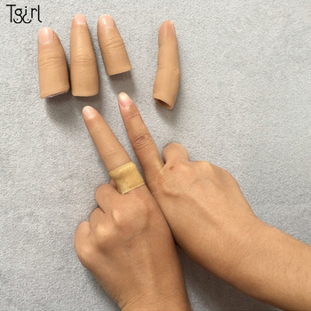 Tgirl One finger Human body simulation prosthetic hand silicone finger glove customized fake finger sleeve