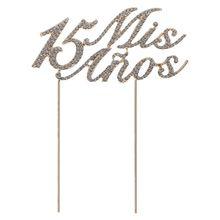 Сверкающие сверкающие цифры 15 Mis Anos буквы Топпер для торта Стразы сплав кекс выбор День Рождения украшения принадлежности L41A