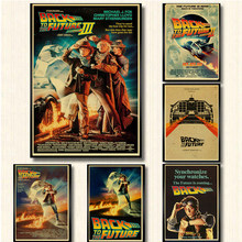 Sci-Fi Back To The Future Film di Propaganda Retro Kraft Poster Decorativo Fai da Te Parete Della Tela di Canapa Sticker Home Bar Art poster Decor(China)