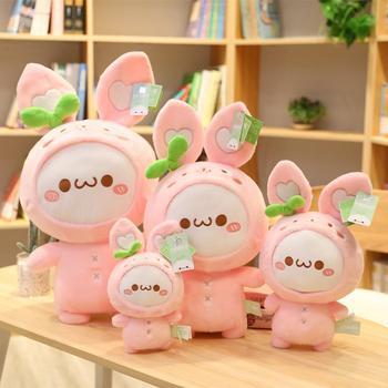 30-65cm kreatywny Kawaii królik kluski zabawki nadziewane urocze zwierzę pluszowa lalka dla dzieci dzieci miękkie poduszki ładne prezenty dla dziewczynek