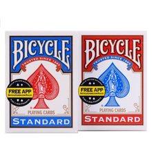Deck para cartas de jogo de poker uspcc, deck azul e vermelho de 2 pçs/set truques adereços