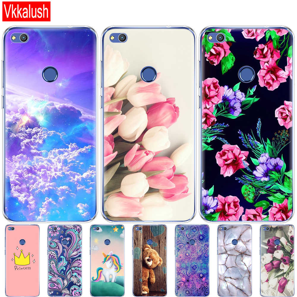 Cover Phone Case For Huawei P9 LITE 2017 P8 LITE 2017 Soft TPU Silicon Back Cover 360 Full Protective Transparent Coque
