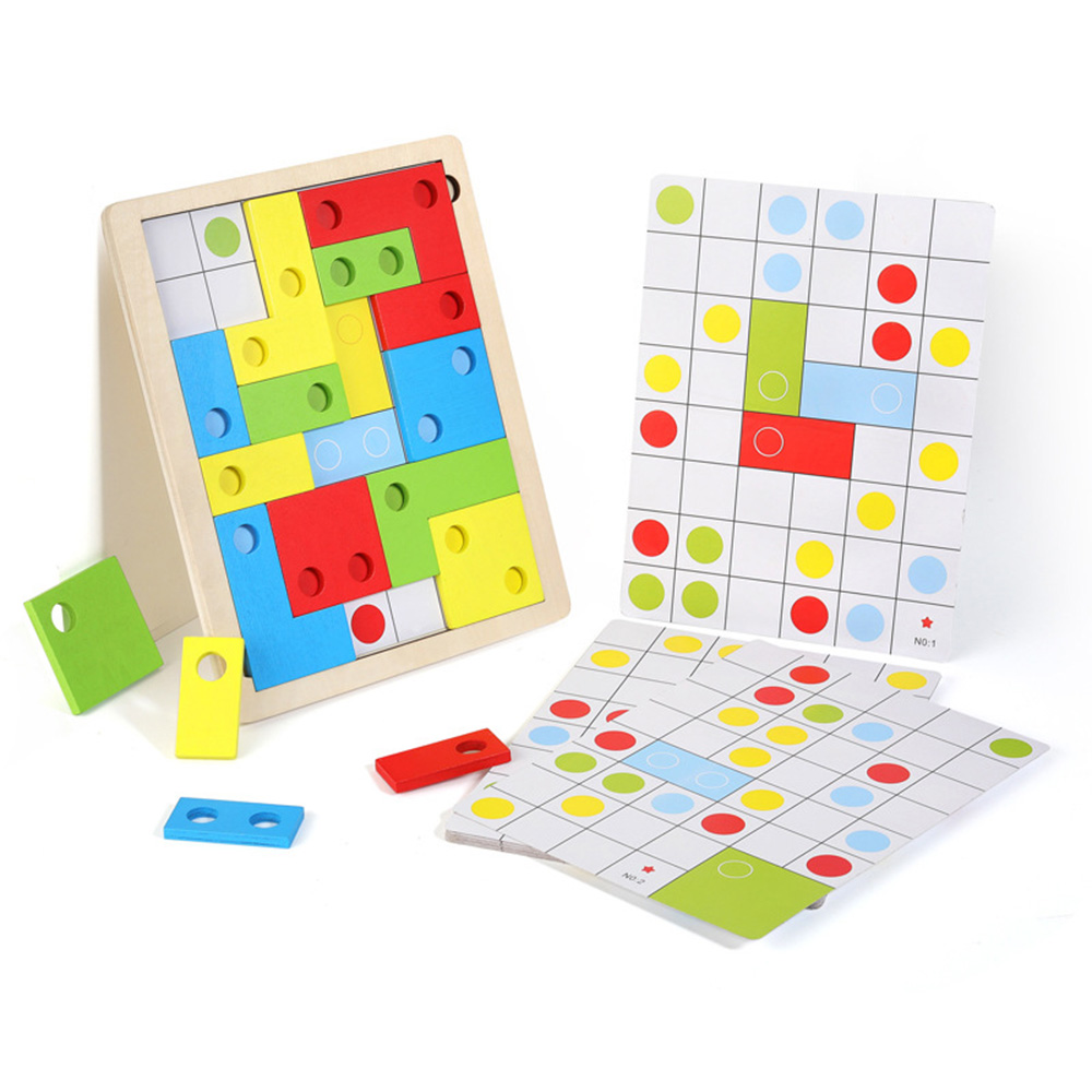 Logical Thinking Puzzle Interesting Wooden Game Math Toy Early Education Creative DIY Toys To Develop Children Intelligence