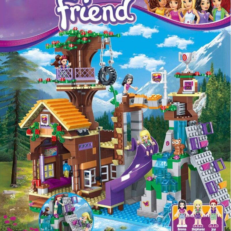 872 шт друзья Приключения лагерь дерево дом фигурки строительные блоки девушка игрушки Рождественский подарок Lepining друг подарки|Блочные конструкторы|   | АлиЭкспресс