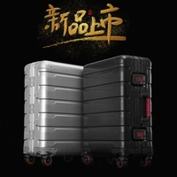 travel tale 100% high quality aluminum magnesium Luxury business Boarding 20/24 size Luggage Spinner brand Travel Suitcase