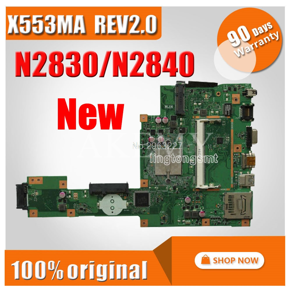 New X553MA Motherboard X553ma REV2.0 N2830 N2840 FOR ASUS D553M F553M Laptop Motherboard X553MA Mainboard X553MA Morherborad