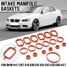 20Pcs Car Intake Manifold Gaskets Rubber Inlet Seal Gasket Repair Kit For BMW  E39 525d E46 330d E38 730d X5 E83 X3 11612246949