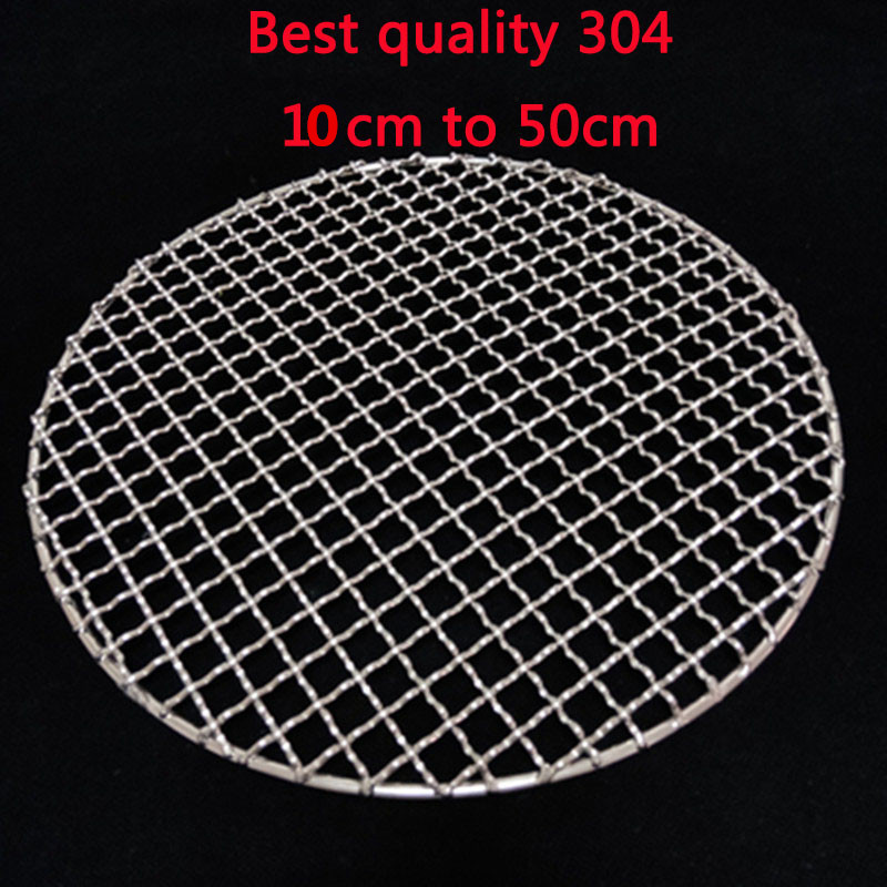 304 Stainless Steel round BBQ Grill Mesh Home Roast Nets Bacon Grill Tool Iron Nets barbecue accessories non-stick BBQ Mat Grid