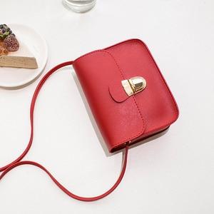 Image 4 - 2020 neue frauen Kleine Schulter Taschen PU Leder Einfarbig Mini Weiblichen Crossbody tasche Mode Einfache Dame Kleine Quadratische Tasche geldbörse