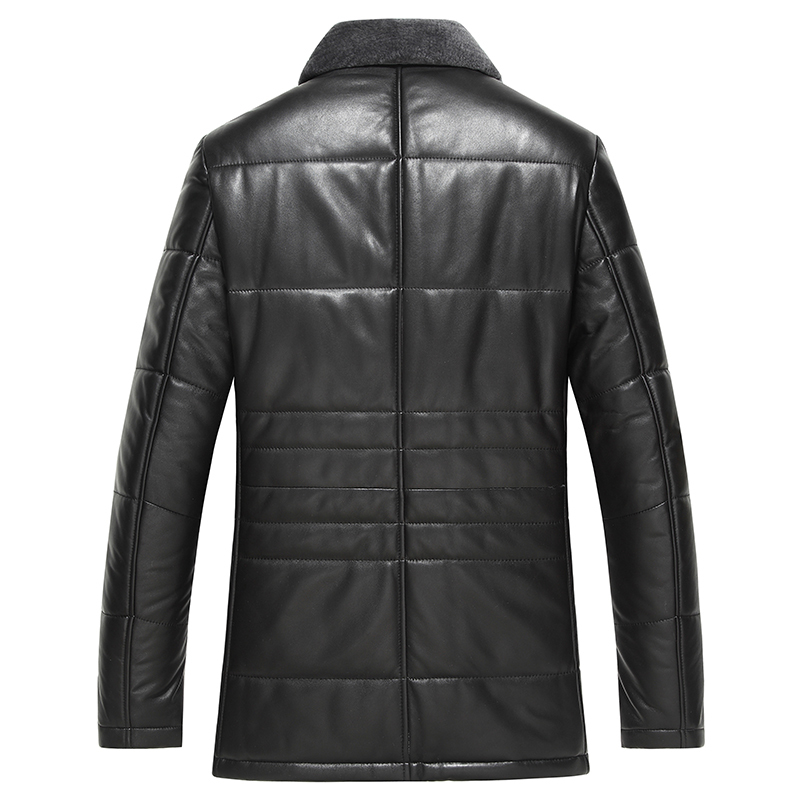 Genuine Leather Jacket Winter Down Jacket Men Lamb Fur Collar Sheepskin Coat Plus Size Chaqueta Hombre XGS5003 MY1408