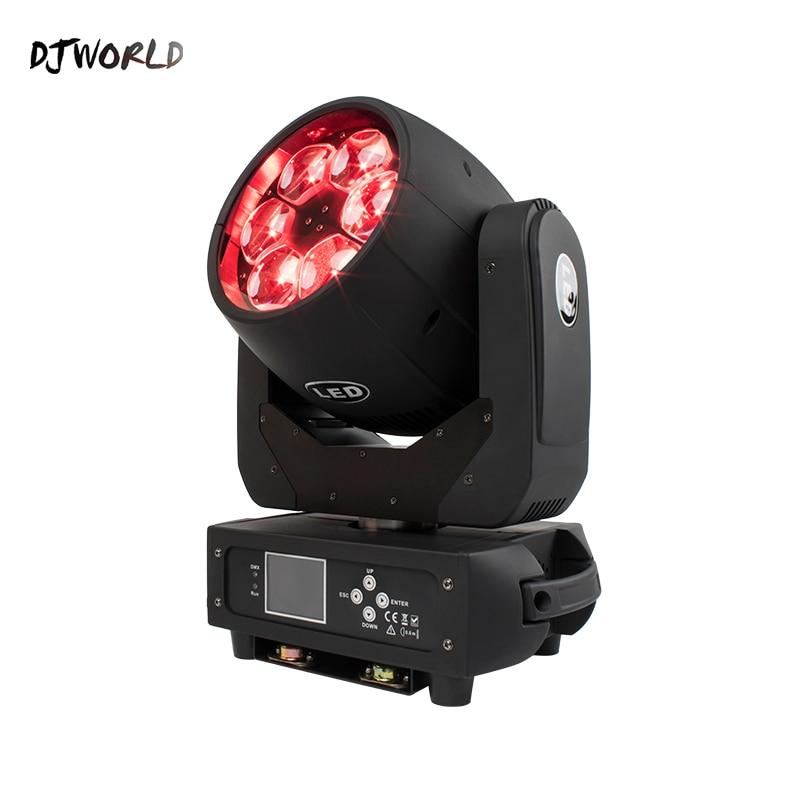 Djworld Bee Eye 6x40W Moving Head RGBW 4in1 LED Beam Effect Light Zoom Wash DMX Stage  Disco Wedding Party DJ Club Fast Shipping