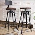 21% барный табурет  вращающийся барный стул  высокий стул из кованого железа  задний домашний барный стул  современный Минимализм