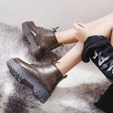 Creepers Women Boots Punk Short Boots Female Pu Leather Dr Motorcycle Shoes Women Autumn Thick Heel Ankle Boots Female Boots все цены