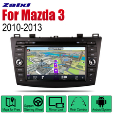 ZaiXi Android 2 Din Auto Radio DVD For Mazda 3 2010~2013 Car Multimedia Player GPS Navigation System Stereo