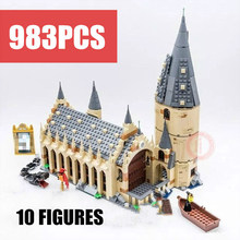 New Movie Harri Hogwarts Great Wall Fit Legoings Castle Figures House Villa Potter Building Blocks Bricks Model Kid Toy Gift new playground series fits legoings creators city streetview set house figures model building kit bricks blocks diy gift kid toy